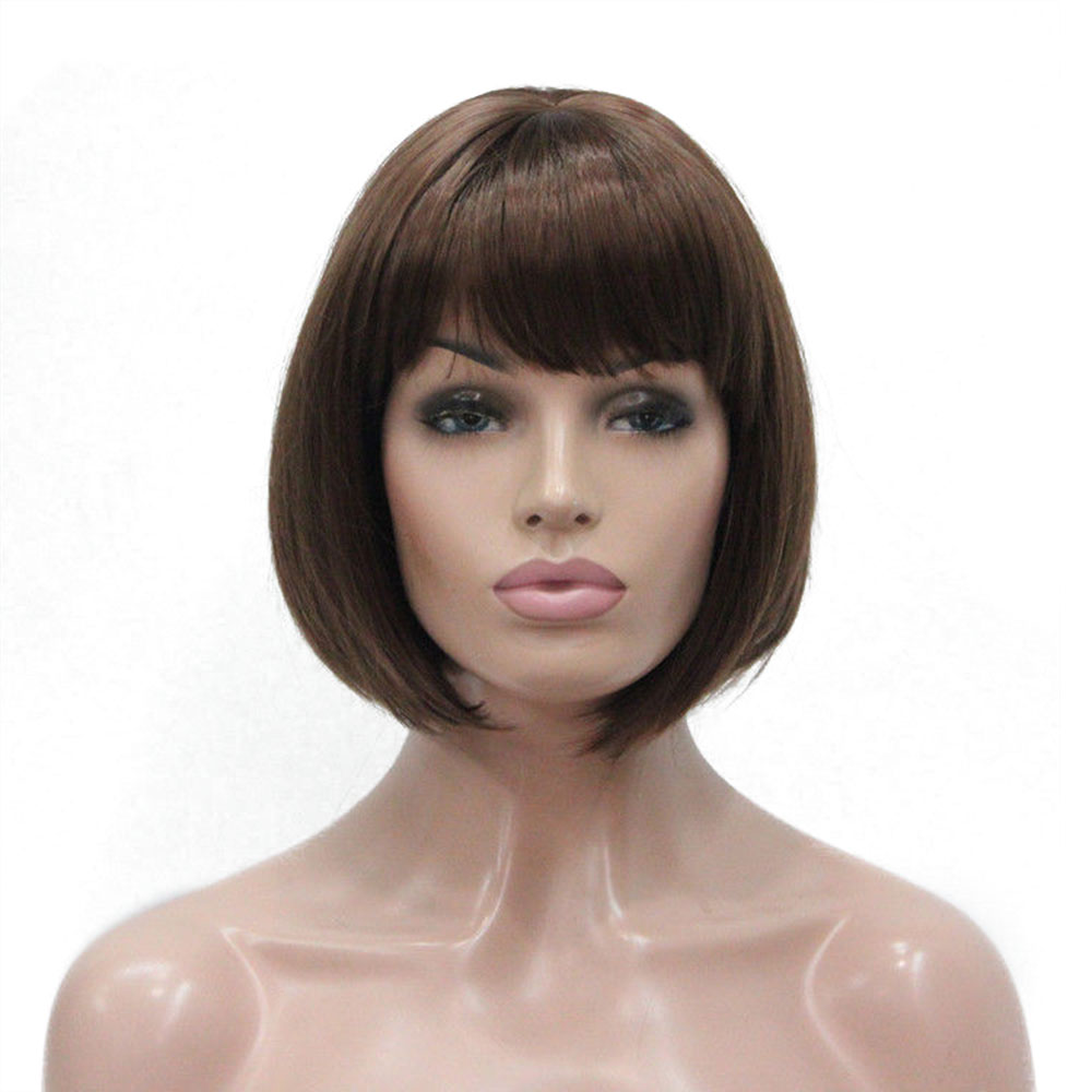 Image 4 - StrongBeauty Women's Wigs Bob Black Hair Short Straight Natural Synthetic Capless Wig-in Synthetic None-Lace  Wigs from Hair Extensions & Wigs