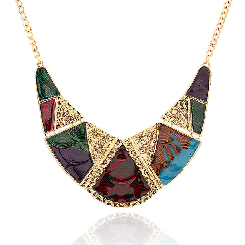 LZHLQ Vintage Necklace For Women Boho Bohemia Big Large Statement Necklace Fashion Jewelry Accessories Long Crystal Necklace