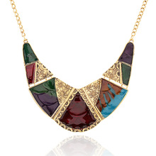 LZHLQ Vintage Necklace For Women Boho Bohemia Big Large Statement Fashion Jewelry Accessories Long Crystal