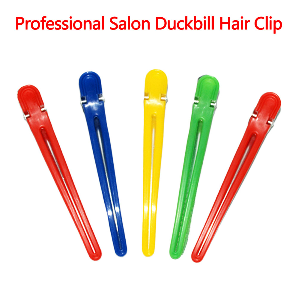 Salon Sectioning Hair Clips 5pcs Hairdressing Accessories Hair Styling Grip Barbershop Hairdresser Clamps Random Colors