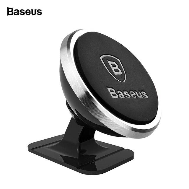 Baseus מגנטי מכונית טלפון בעל עבור iPhone XS X סמסונג מגנט הר רכב מחזיק עבור טלפון במכונית תא נייד מחזיק טלפון Stand