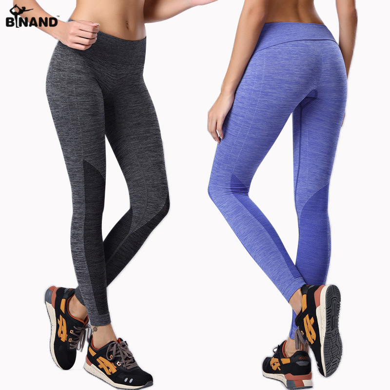 Штаны для йоги, штаны для бега, одежда для тренировок, спортивные Леггинсы для женщин, фитнеса, тренажерного зала, с высокой талией, женские Л...