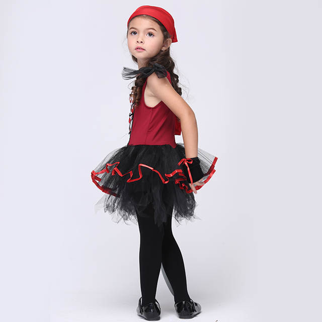 Online Shop Cute Girl Pirate Costumes Children Cosplay Party Stage
