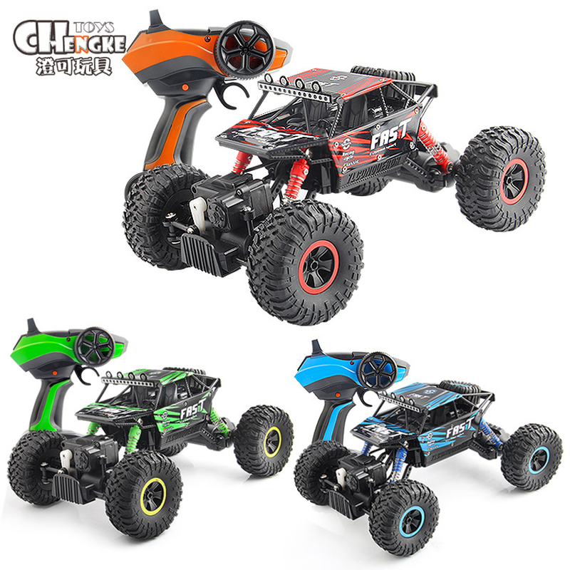 1:18 RC Racing Car 4WD 2.4GHz climbing Car 4x4 Double Motors Bigfoot Car Remote Control Model Off-Road Vehicle Toy