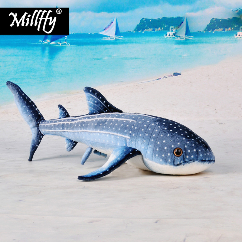 Dropshipping New Arrival Realistic Zebra Shark Plush Toy Lifelike Peluche Doll Stuffed Toy Shark Soft Pillow for Kids Children