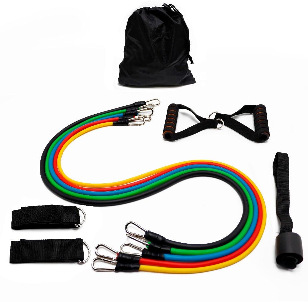 Купить с кэшбэком 11pcs/set Pull Rope Fitness Exercises Resistance Bands Crossfit Latex Tubes Pedal Excerciser Body Training Workout Yoga