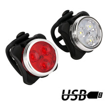 4 Modes Bicycle Light Built-in battery Rechargeable USB LED