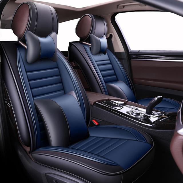 Nueva Funda de cuero Universal de lujo para asiento de coche para Hyundai solaris ix35 30 25 Elantra MISTRA Grand Santafe accent Veloster coupe