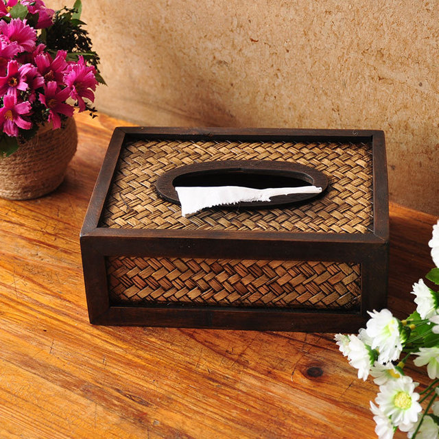 Aliexpress Com Buy Bamboo Weaved Tissue Box Case Toilet Paper