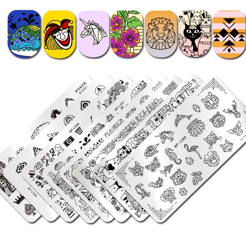 Geometric Reverse Stamping Nail Art Born Pretty Review: BORN PRETTY Nail Stamping Plate Rectangle Geometric