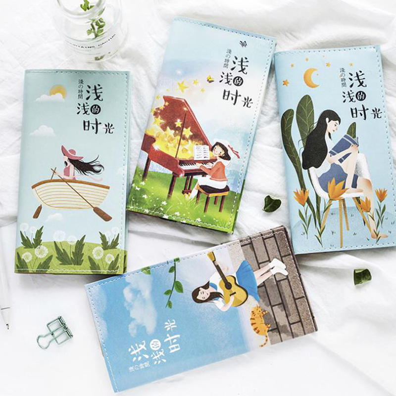 1 Pcs New Enjoy Life Time Leather Travel notebook portable traveler journal diary planner notebooks stationery for friend gift