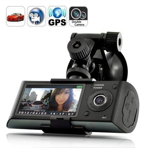 X3000 Car GPS DVR Camera dual lens camera 2.7 LCD Screen Car Black box DVR with GPS Logger and G sensor Car Camera