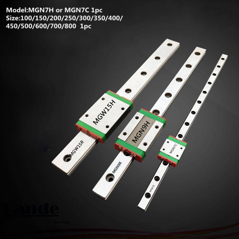 все цены на MGN7 CNC 7mm miniature linear rail guide MGN7C L100 - 600 mm MGN7C linear block carriage or MGN7H narrow carriage онлайн