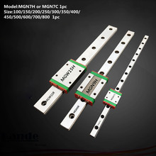 цены MGN7 CNC 7mm miniature linear rail guide  MGN7C L100 - 600 mm MGN7C linear block carriage or MGN7H narrow carriage