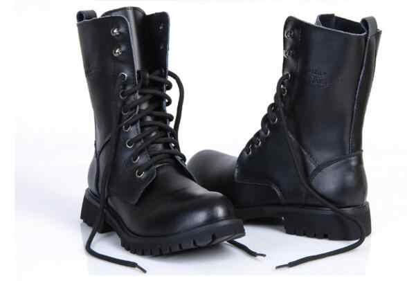 Nuovo stivali da uomo in pelle uomo inverno Caldo scarpe di avvio martin cowboy autunno uomo di pelliccia di velluto