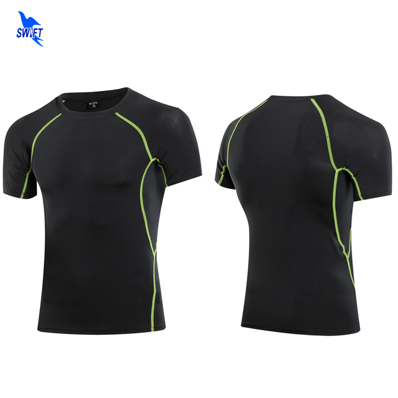 Gym Fitness Professional Rashgard Compression Sport T Shirt Short Sleeve Tight Dry Fit Men Running Shirts Basketball Jersey Tops