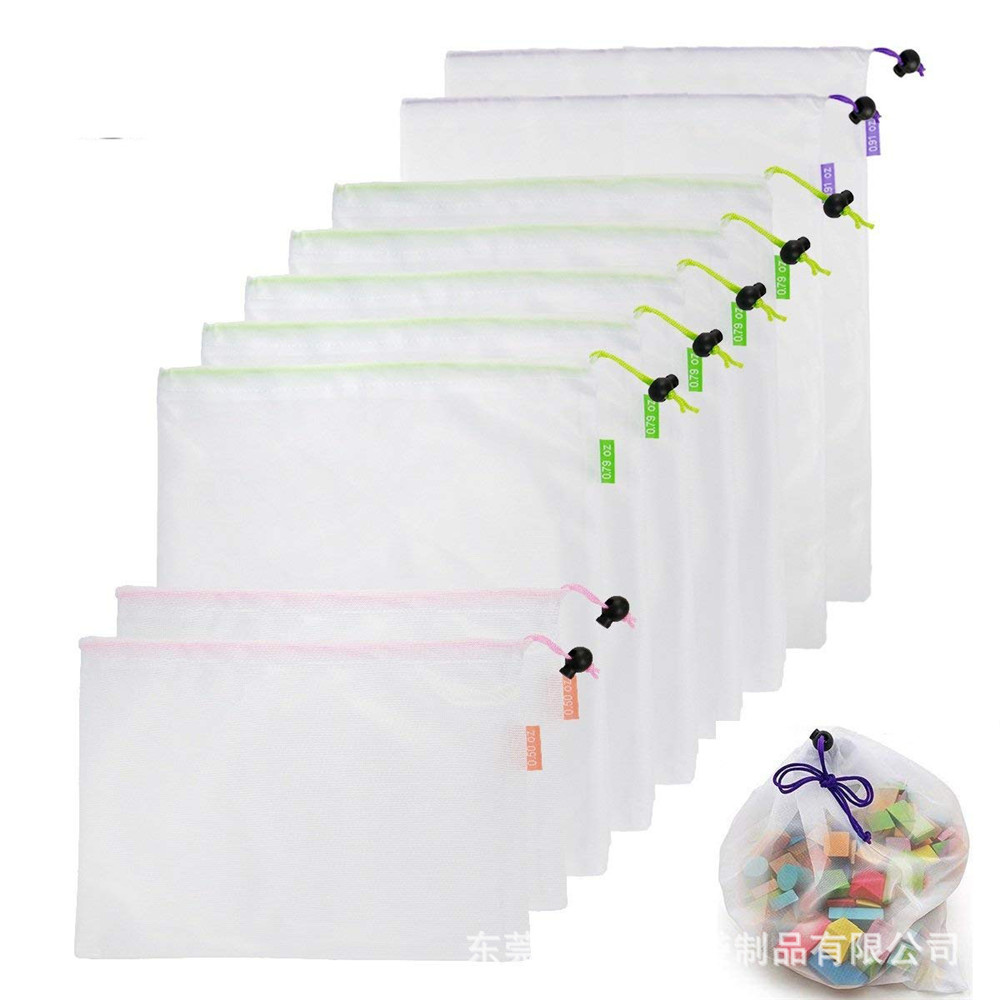 Reusable Mesh Foldable Shopping Bag Washable Eco Friendly Shop Bag Grocery Fruit Vegetable Toys Sundries Storage Custom Bag