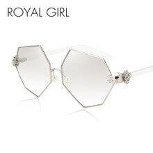 ROYAL GIRL New Fashion Gradient Heptagon Sunglasses Women Men Palm Leg Pearl Nose Pad Design Sun Glasses Female Eyeglasses ss228