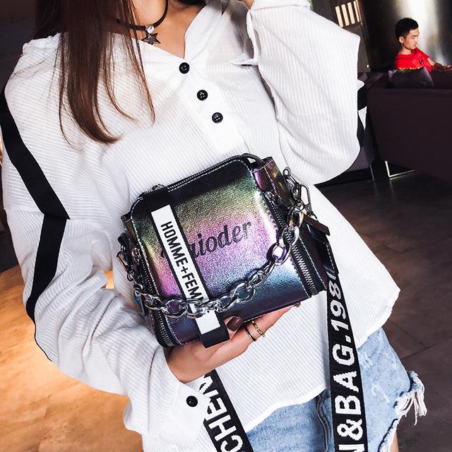 Laser Stylish Shoulder Crossbody Bag