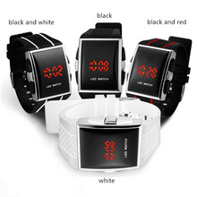 LED Electronic Watch New Durable Black  Mens Fashion Casual Creative Sports Men and Women