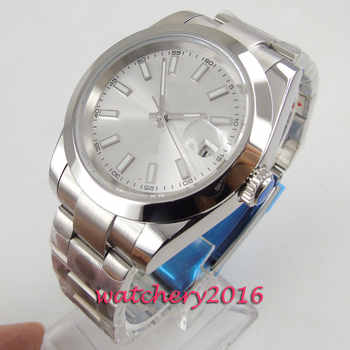 39mm Bliger Sterile Dial Sapphire Glass Date Top Brand Luxury Polished Bezel Automatic Movement men\'s Watch