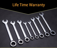 9 mm Ratcheting Combination Wrench Set Hand Tools Gear Ring Wrench Torque and Socket Wrench A Set of Wrench