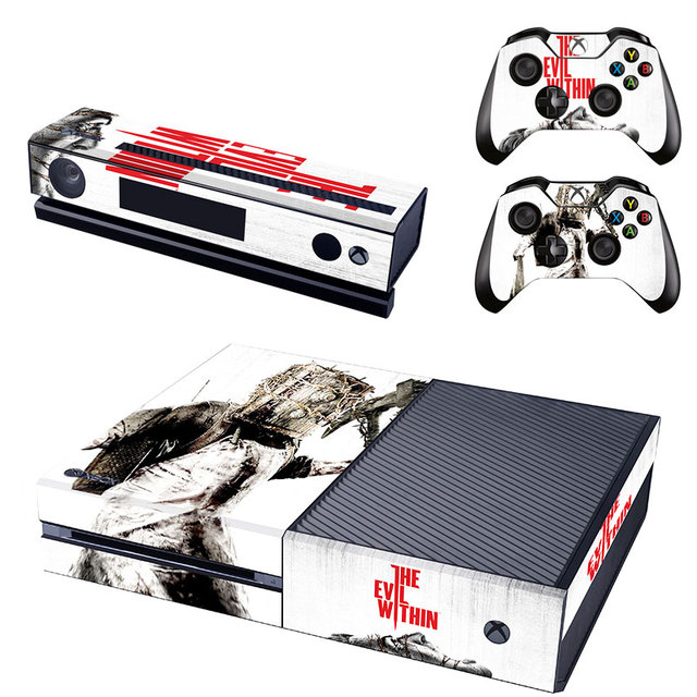 The evil within new design vinyl decals xbox skin sticker for microsoft xbox one console
