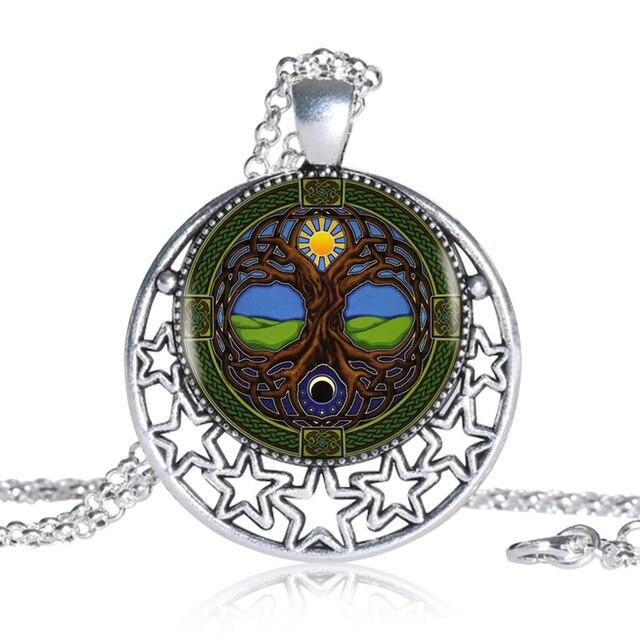 1 Teilelos Sonne Und Mond Keltischer Baum Des Lebens Anhänger