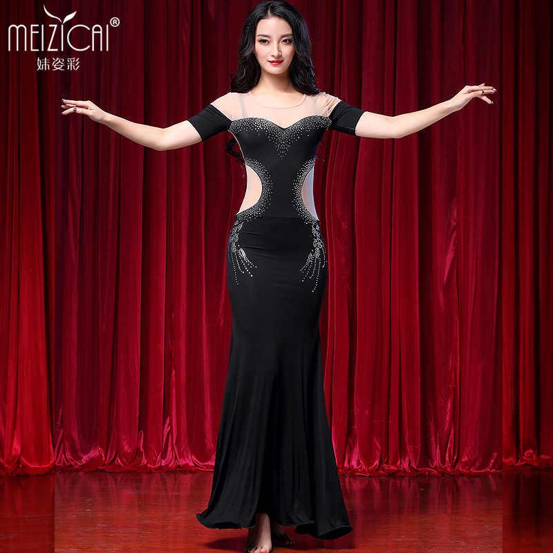 d6d8b6b27b7 2018 Новый живота Танцы костюм Лидер продаж Для женщин живота Танцы платье  для выступления одежда Q3111