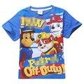 Nuevo 2016 Muchachos de La Manera Camiseta de la Historieta Impresión Del Perro de la Patrulla Patrulla Patrulla de Ropa Para Niños Para Niños Camiseta de los niños Ropa de Los Niños