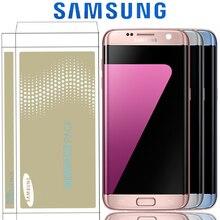Die 5.5 Display Mit Burn Schatten LCD Mit Rahmen Für SAMSUNG Galaxy S7 Rand G935 G935F SM G935F Touch screen Digitizer Montage