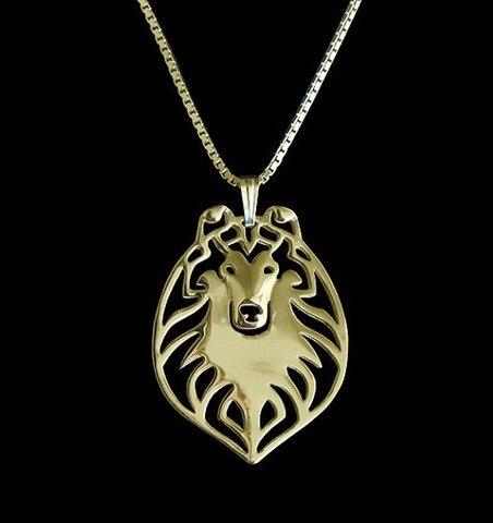 Купить ожерелье с собакой колли из сплава в стиле бохо оптовая продажа