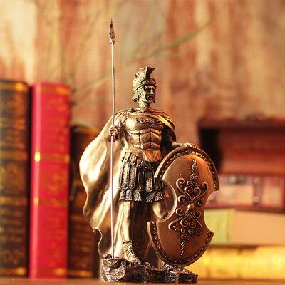 Armure médiévale européenne guerrier spartiate antique Rome soldat résine décoration créative maison accessoires artisanat nouveauté hommes cadeau