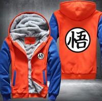 Dropshipping USA Plus EU Size Dragonball Hoodie Son Goku Sun Wukong Men's Women's Printing Pattern Thicken Fleece Zipper Hoodies