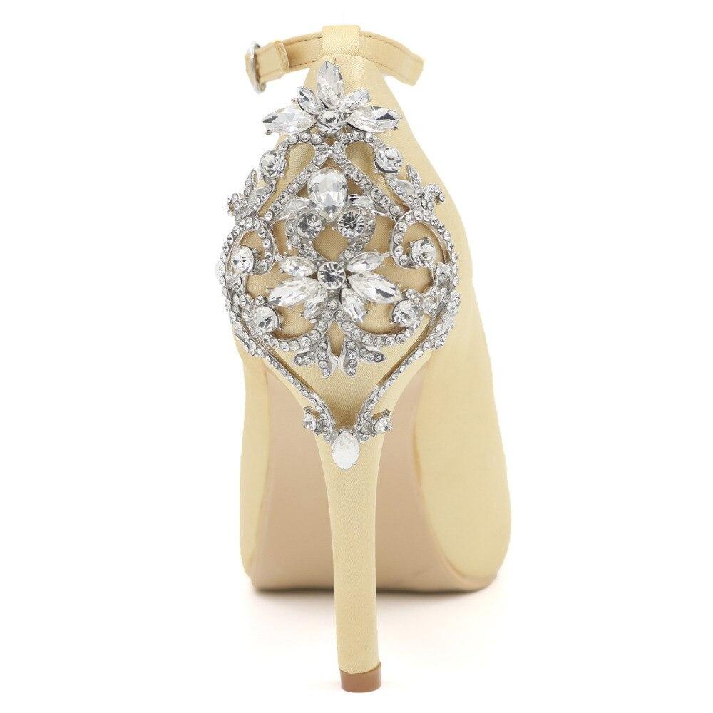 Creativesugar с ремешками на лодыжках с открытым носком с атлас вечернее платье свадебная обувь Свадебная вечеринка юбилей с кристаллами королев...