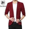Kirin fogo Homens Blazer 2017 Marca de Moda Blazer Casual Para Homens 4XL Jaqueta Slim Fit Terno Elegante Blazers Mens Projetos Q50