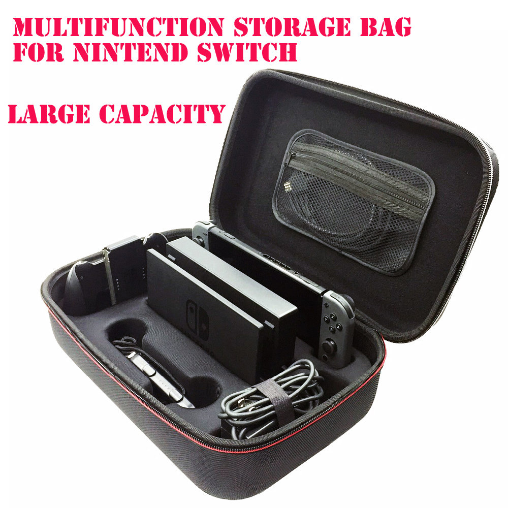 Multifunction Large Capacity Carrying Case Storage Bag For Nintend Switch Console Bag Protective Hard Packag Travel Box For NS