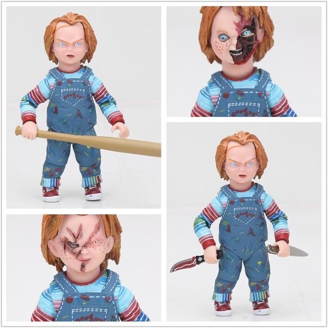 10 cm Child's Play a Noiva de Chucky NECA 1/10 Escala Horror Assustador Chucky Boneca mocinhos Figura de Ação DO PVC collectible Modelo Toy