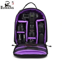 HUWANG Portable Card Camera Bag Waterproof SLR Camera Backpack Anti Theif Travelling Camera Bag Large Capacity