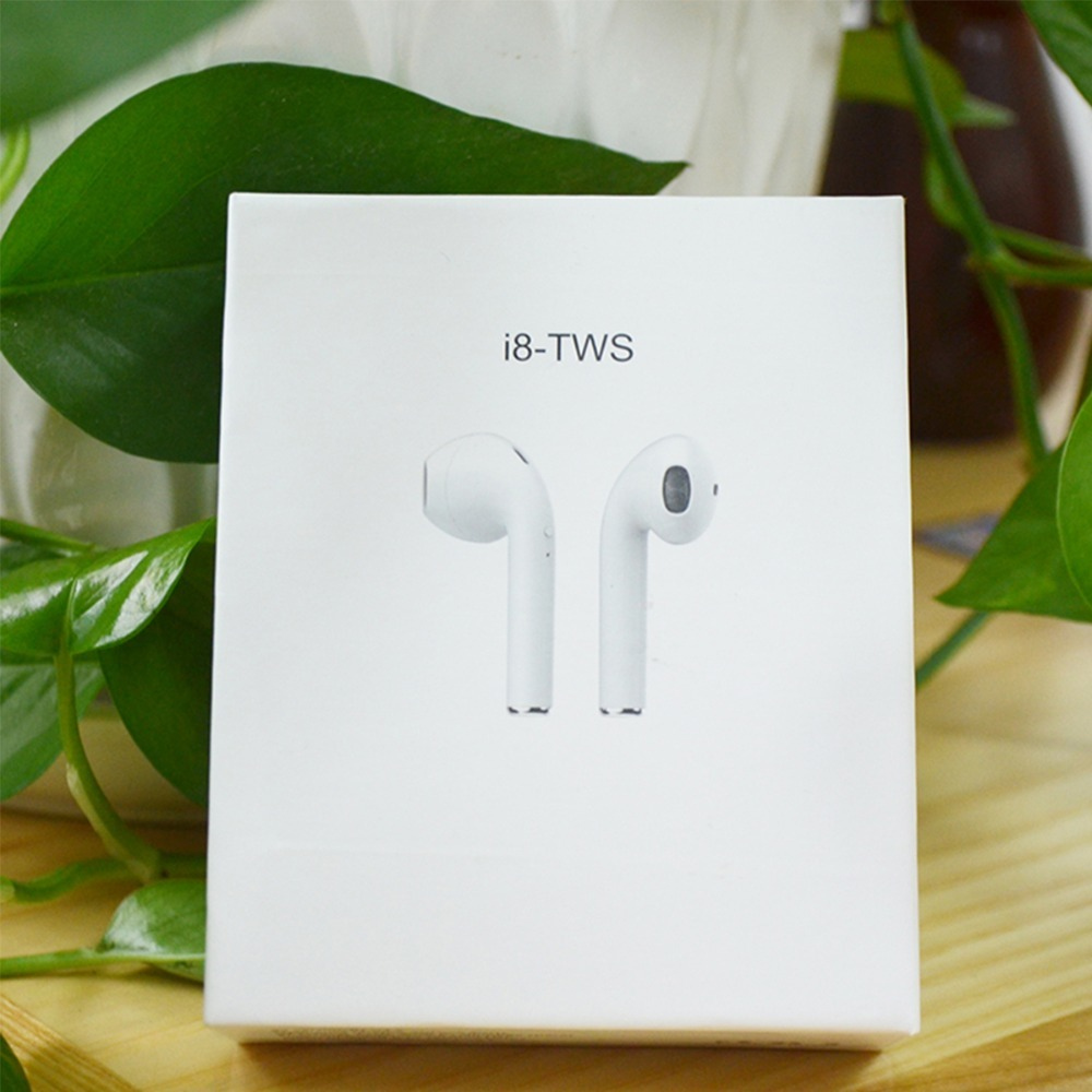 <font><b>I8</b></font> <font><b>TWS</b></font> Wireless Mini <font><b>Earphones</b></font> Bluetooth 4.2 Earbuds Double Ear Side Headsets Stereo Music Charger For IPhone 7 8 Plus X Siri image