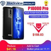 Blackview P10000 Pro смартфон 5.99 в ячейке FHD + MT6763 Octa core 11000 мАч bak Батарея 5 В /5A 4 ГБ Оперативная память 64 ГБ Встроенная память мобильного телефона
