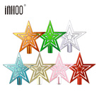inhoo Christmas Decor Tree Top Star Christmas Star Tree Topper for Table Christmas Ornament 2019 New Year Multicolor optional