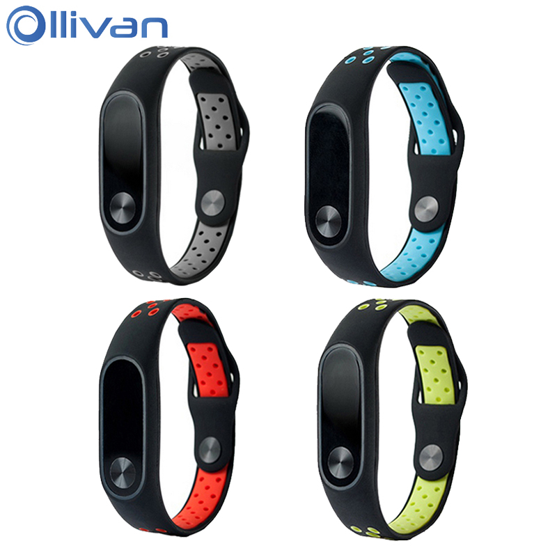 Watch Accessories Colorful Silicone Wrist Strap Bracelet For Mi Band 2 Double Color Replacement Watchband Smart Band Accessories For Xiaomi Mi2 A Great Variety Of Models