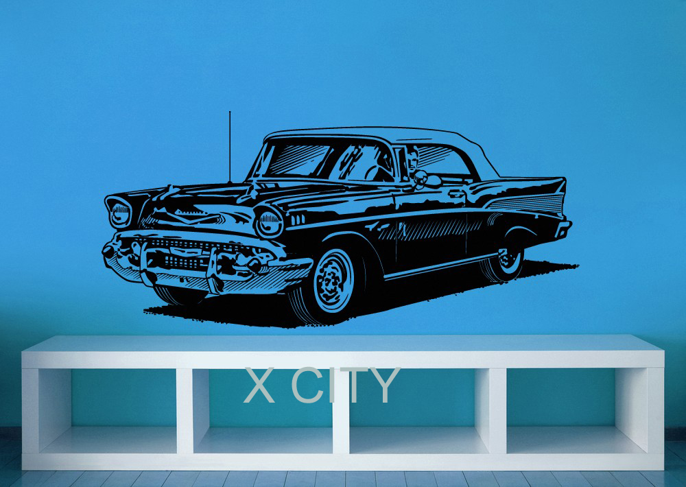 1950's Classic Chevy Classic Retro Car Hipple WALL ART