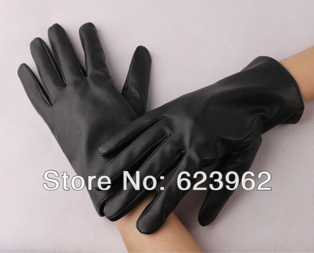 Good quality leather lady winter warm gloves Christmas gifts