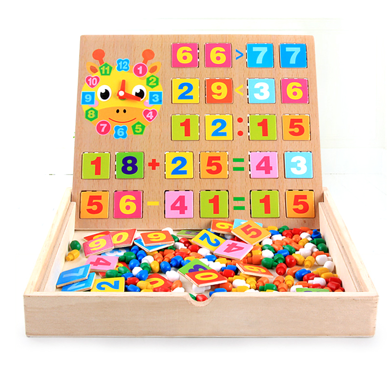 Math Toys For Kids : Mushroom nail combination multi function wooden toys