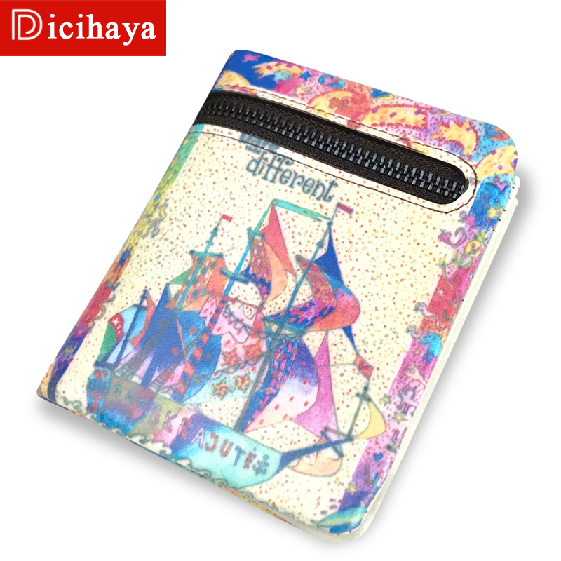 HICIHAYA Genuine Leather Purses Womens Leather Wallet Zipper Small Money Clip Leather Clutch Wallet Coin Bag Purse 702A04