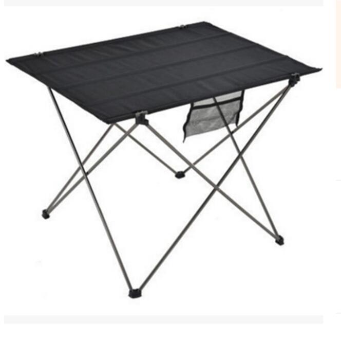 Gerade Tragbare Faltbare Camping Outdoor Tisch Computer Bett Tische Picknick 6061 Aluminium Legierung Ultra Licht Klapp Schreibtisch