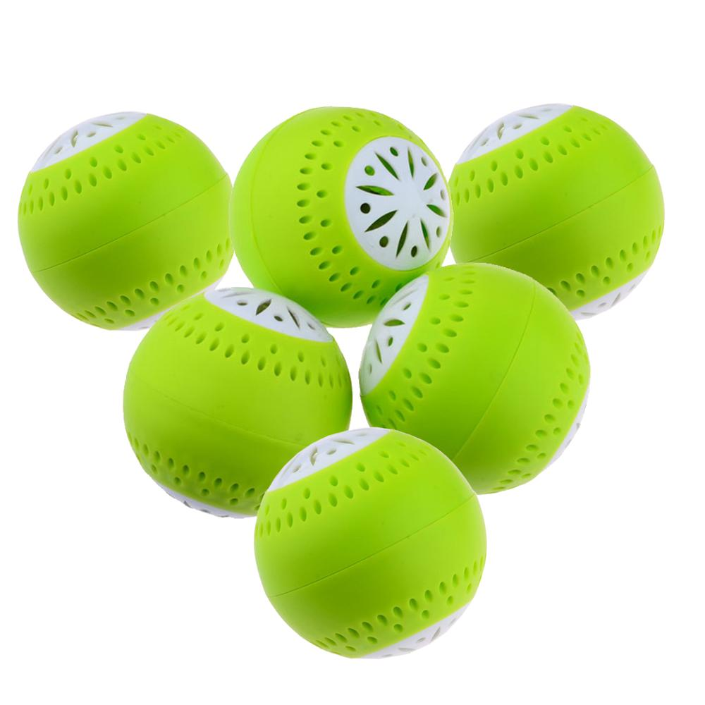 New Hot 6/9Pcs Fridge Moisture Absorbers Eliminator Odor Removal Balls Home Kitchen Tool Drop Ship - Green