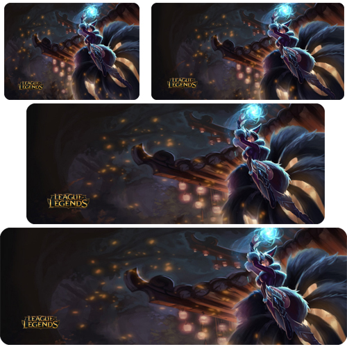 lol mouse pad Midnight Ahri mousepad laptop Legends mouse pad gear notbook computer gaming mouse pad gamer play mats